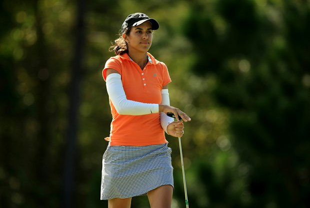Paula Reto at the Symetra Tour Championship Presented by Embry-Riddle Aeronautical University, during the final  round.