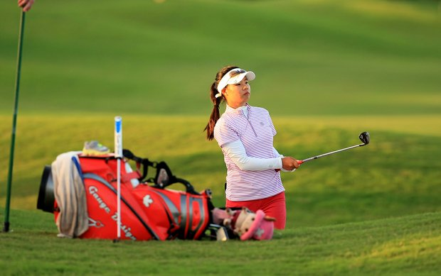 Sue Kim at the Symetra Tour Championship Presented by Embry-Riddle Aeronautical University, during the final  round.