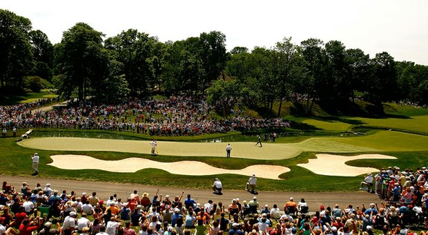 The 14th hole at Muirfield Village in Dublin, Ohio.
