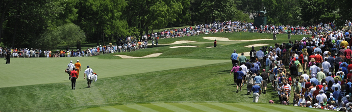 The first hole at Muirfield Village.