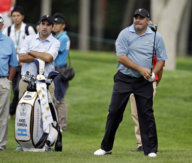 Angel Cabrera, 44, 4-6-3, Argentina: Fearless, loves to hit driver, and seems to play his best in the big stages – hence his two major titles and his loss to Adam Scott in a Masters playoff this year. Well respected by his peers.