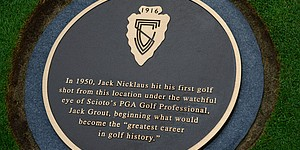 Scioto plaque recognizes Nicklaus-Grout legacy