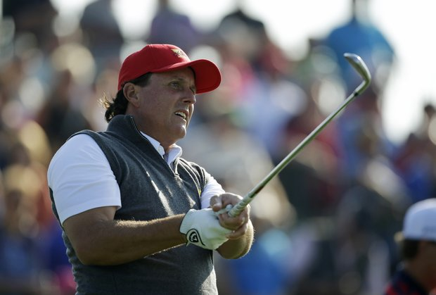 Phil Mickelson, 43, 18-14-10, Rancho Santa Fe, Calif.: The guy's in the Hall of Fame because he knows how to win (even in links golf now) and is a short-game magician. Perfect for this format because he likes to take a kid under his wing and mentor. Don't be surprised if he pairs with Jordan Spieth.