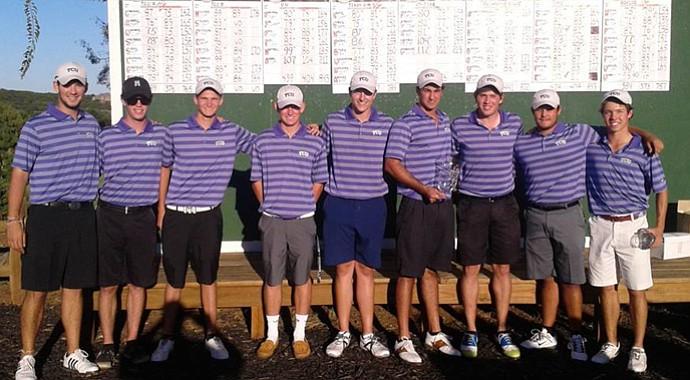 The TCU club golf team, a member of the NCCGA.