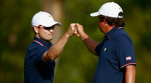 Team USA's Zach Johnson and Jason Dufner.