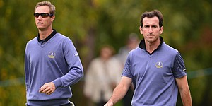 Europe's lead narrows in Seve Trophy Day 2