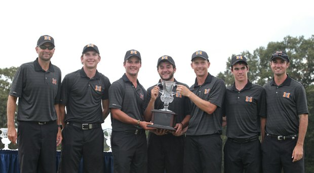 The Mercer Bears after winning the 2013 Brickyard Collegiate Championship in Macon, Ga., over a field that included Georgia Tech, Virginia Tech.