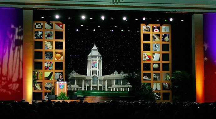 A scene from the 2007 World Golf Hall of Fame induction ceremony.