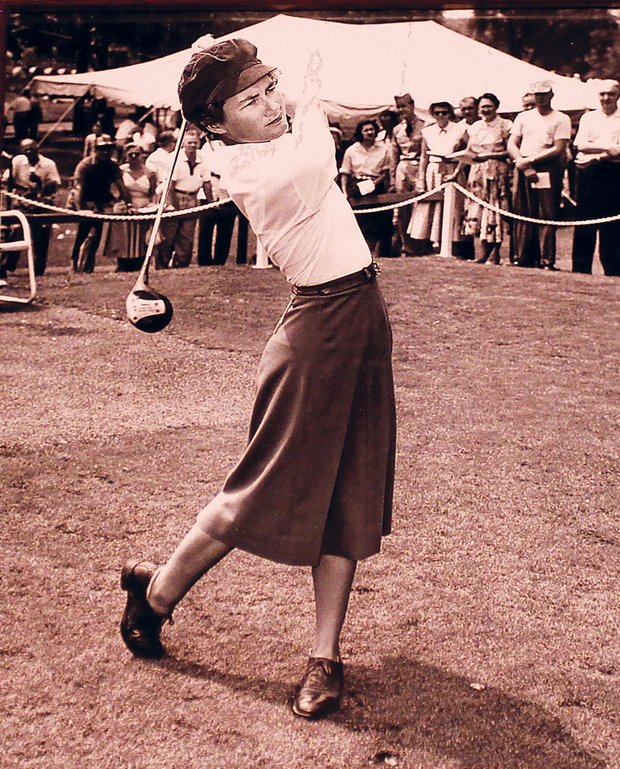Louise Suggs was known for her smooth swing, now on display at the World Golf Hall of Fame.