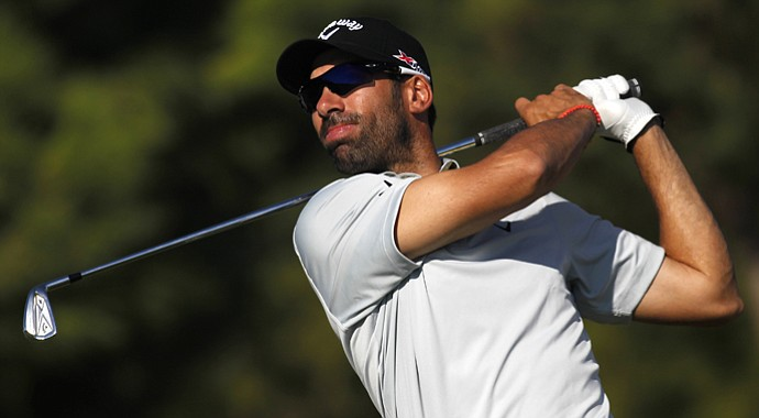 Alvaro Quiros during the first round of the Portugal Masters.