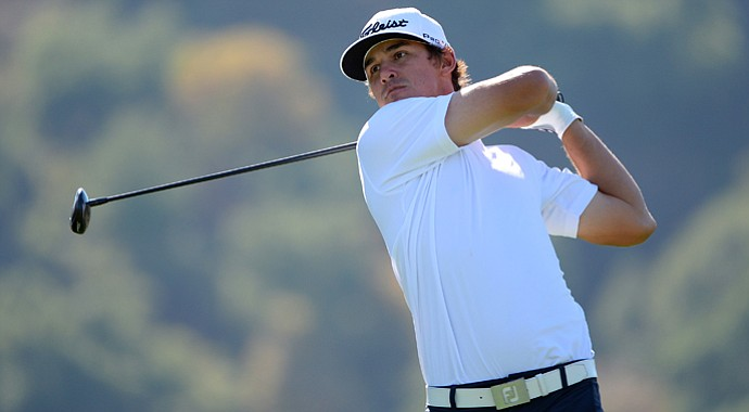 Brooks Koepka during round three of the Frys.com Open at the CordeValle.