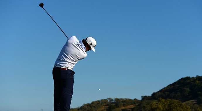 Brooks Koepka during the third round of the Frys.com Open at the CordeValle Golf Club.