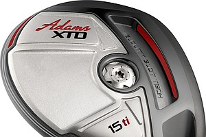 Adams Golf's XTD Ti fairway woods are made of titanium and have slots of their own.