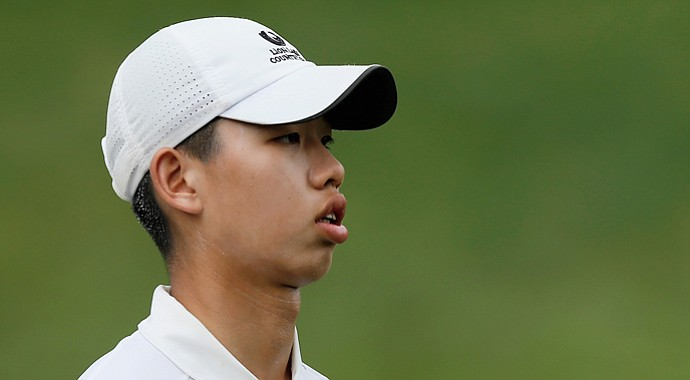 Guan Tianlang during the second round of the Memorial Tournament.
