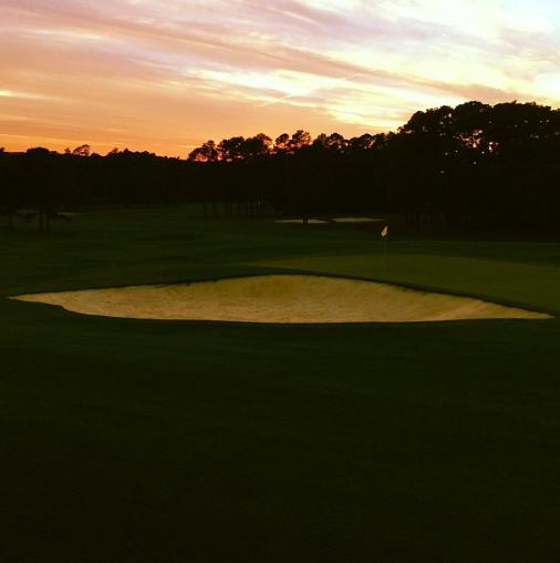 Jordan Spieth's Instagram photo of Augusta National.