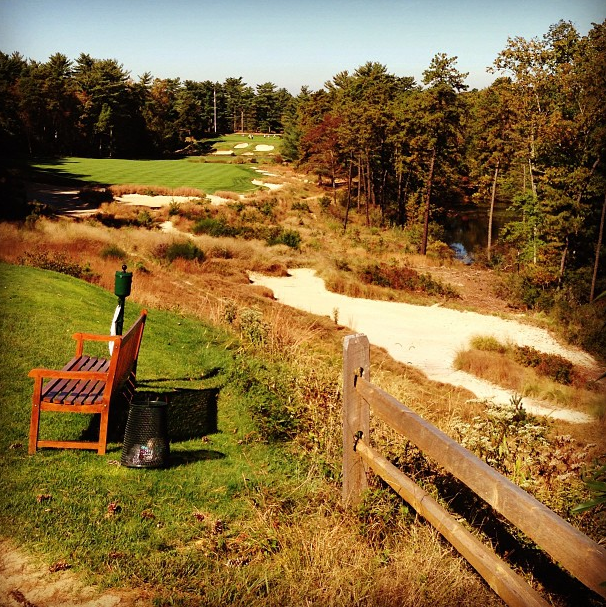Jordan Spieth's Instagram photo of Pine Valley.