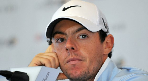 Rory McIlroy attends a press conference ahead of the Kolon Korea Open.
