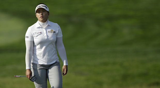 Amy Yang during the first round of the LPGA KEB HanaBank Championship.