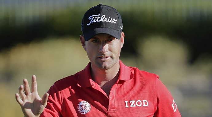Webb Simpson during the second round of the Shriners Hospitals for Children Open.