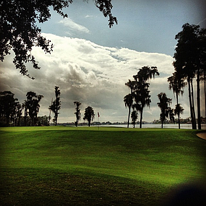 The second green during the first round of the Isleworth Collegiate Invitational.
