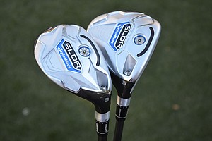 TaylorMade SLDR fairway wood and rescue hybrid.