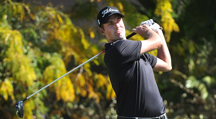 Webb Simpson during the final round of his win at the 2013 Shriners Hospitals for Children Open in Las Vegas, Nev.