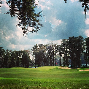 The finishing hole at Isleworth Golf and Country Club during the Isleworth Collegiate Invitational.