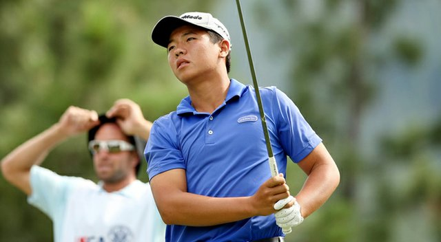 Andy Zhang during the 2013 U.S. Junior Amateur.