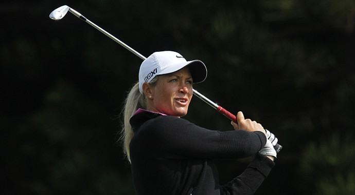 Suzann Pettersen during the third round of the Sunrise LPGA Taiwan Championship.
