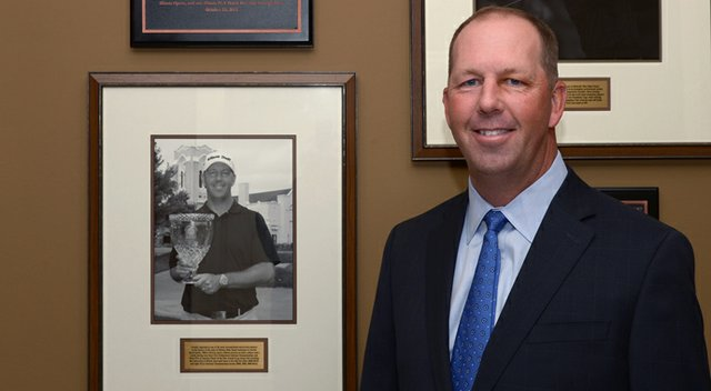 University of Illinois head coach Mike Small was inducted into the Illinois Golf Hall of Fame on Oct. 25.