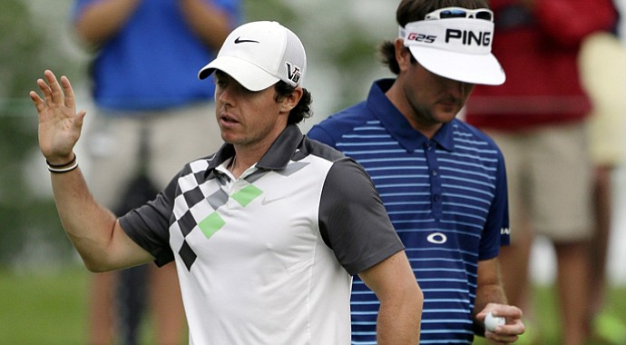 Rory McIlroy and Bubba Watson during the 2013 Memorial on PGA Tour.