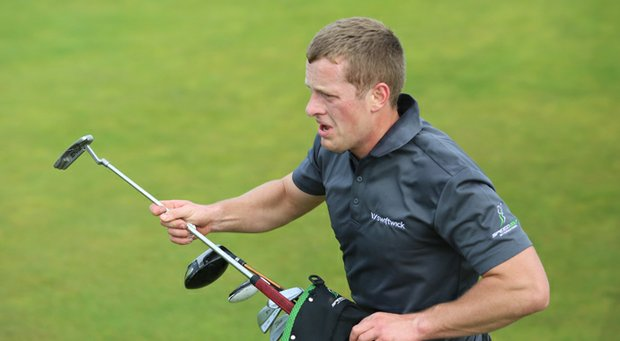 Irishman Rob Hogan shot 77 at Old Macdonald at Bandon Dunes Resort to win the Speedgolf World Championships.