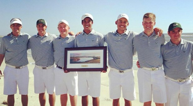 South Florida with the team trophy at the Invitational at Kiawah.