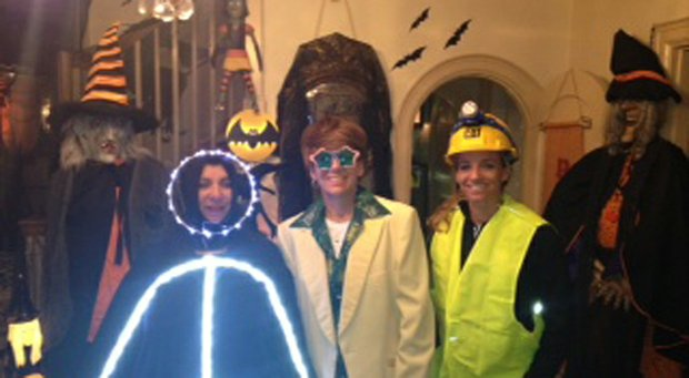Neen Fitzwalter, Moira Dunn and Kris Tamulis in their Halloween costumes.