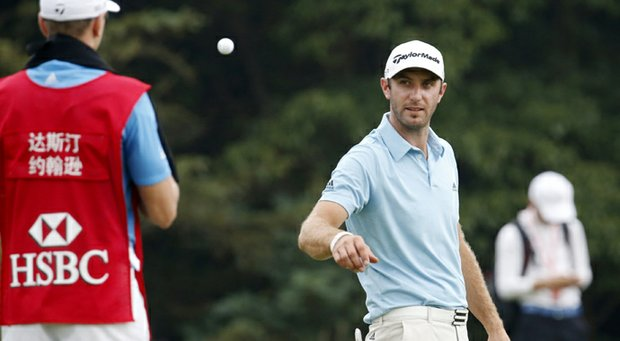 Dustin Johnson during the third round of the WGC-HSBC Champions.