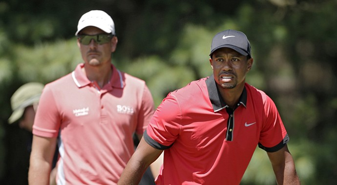 Tiger Woods (right) will be paired with Henrik Stenson (left) and Justin Rose for the opening round of the 2013 Turkish Airlines Open.