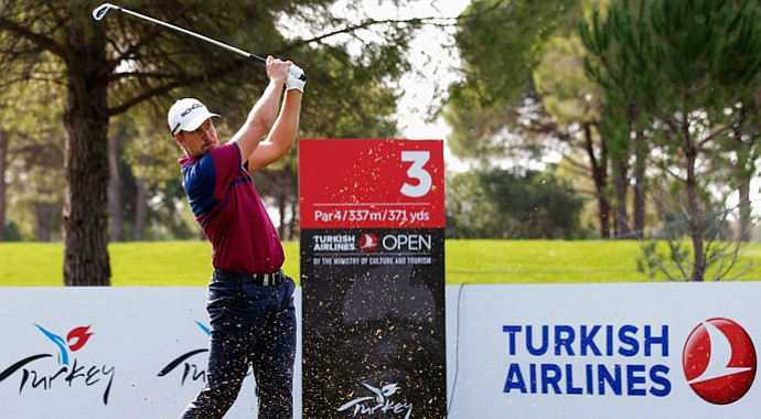 Henrik Stenson during the Turkish Airlines Open Pro-Am on Wednesday.