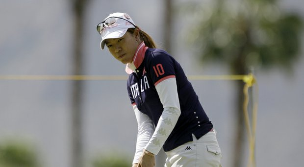 Shiho Oyama of Japan during the 2011 LPGA Kraft Nabisco.