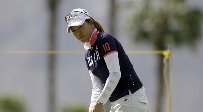 Shiho Oyama of Japan during the 2011 LPGA Kraft Nabisco.