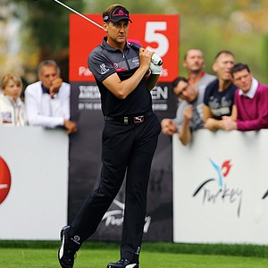 Ian Poulter during the 2013 Turkish Open.