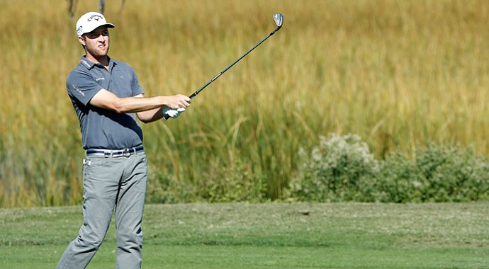 Chris Kirk during the third round of the McGladrey Classic in Sea Island, Ga.