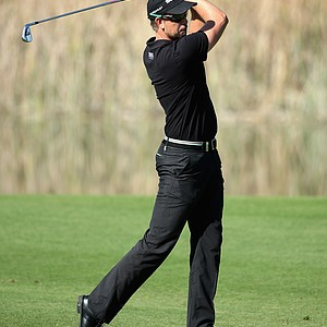 Henrik Stenson during the third round of the Turkish Airlines Open at Montgomerie Maxx Royal.