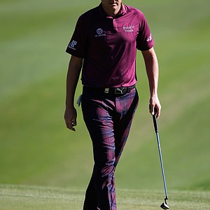 Ian Poulter walks on the third green during the third round of the Turkish Airlines Open.