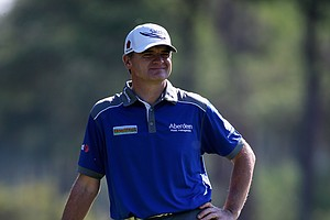 Paul Lawrie on the 13th green during the third round of the Turkish Airlines Open.