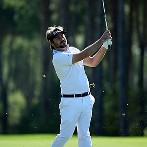Victor Dubuisson in action during the third round of the Turkish Airlines Open.
