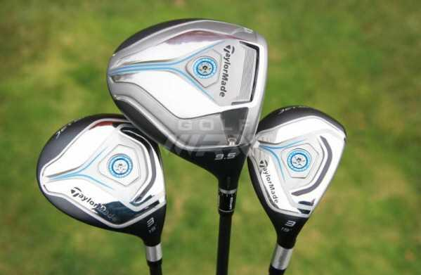 TaylorMade Jetspeed driver, fairway wood and rescue hybrid.