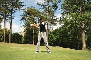 PGA Tour winner Chris Kirk's swing generates a naturally powerful draw.