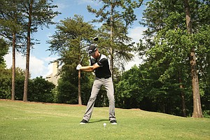 PGA Tour winner Chris Kirk's swing generates a naturally powerful draw.