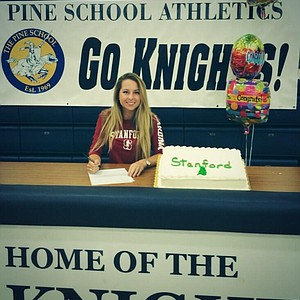Shannon Aubert signed with Stanford on Wednesday.