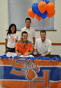 William Martinez signed with Sam Houston State on Wednesday.